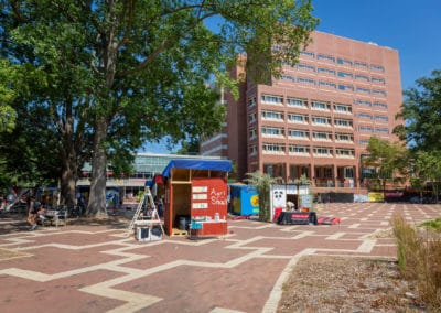 Student fundraiser Shack-A-Thon in the brickyard