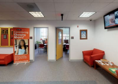 Advising office in Holmes Hall