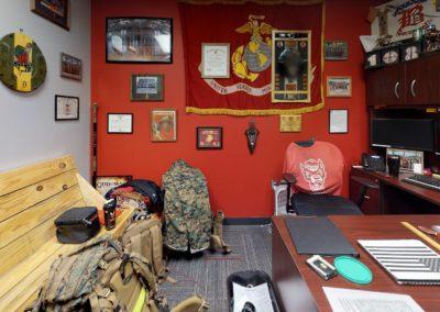 ROTC office inside Reynolds Coliseum