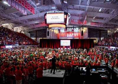 New Students Convocation at Reynolds Coliseum
